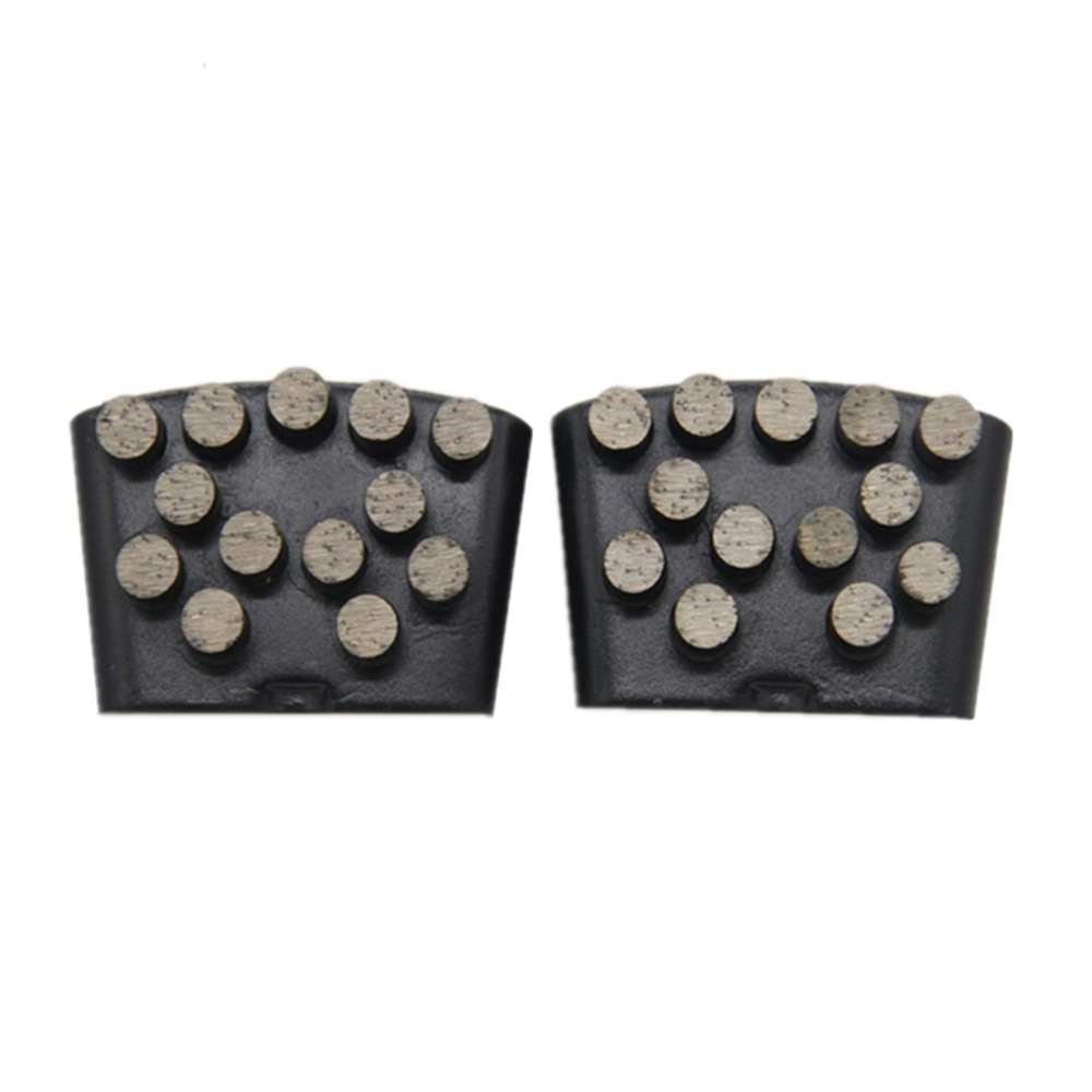 HTC Diamond Metal Bond Abrasive Tools Diamond Grinding Shoes for Concrete Terrazzo with Thirteen Round Segments 12PCS