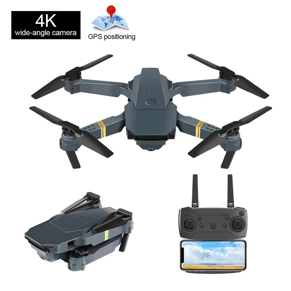 E58 RC Drone WIFI FPV With Wide Angle HD 4K Camera Hight...