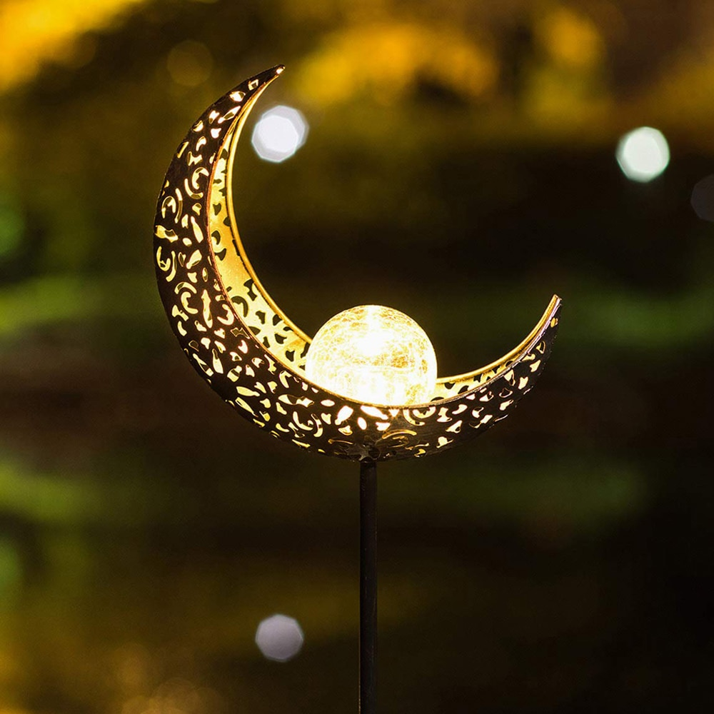 LED Solar Light Sun Moon LED Garden Light Flame Effect Lamp Waterproof Outdoor Lights Landscape Solar Power Decorative Lamp