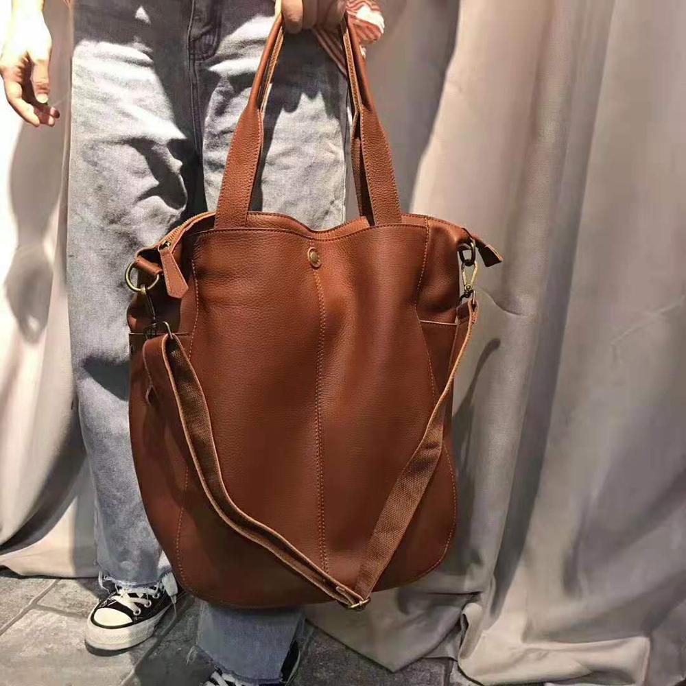 Luxury Handbags Women Genuine Leather Bucket Bags Brand Designer Shoulder Bags Ladies Crossbody Bag Female Tote Large Capacity
