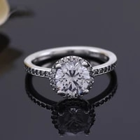 hot free shipping real 925 sterling silver ring classic elegant zircon girl rings for womens gift banquet jewelry