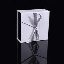 Square Necklace Pendant Box 8.3x8.3x3.7cm Jewelry Box Paper Jewelry Gift Box Jewellery Organizer (Customized logo accept)