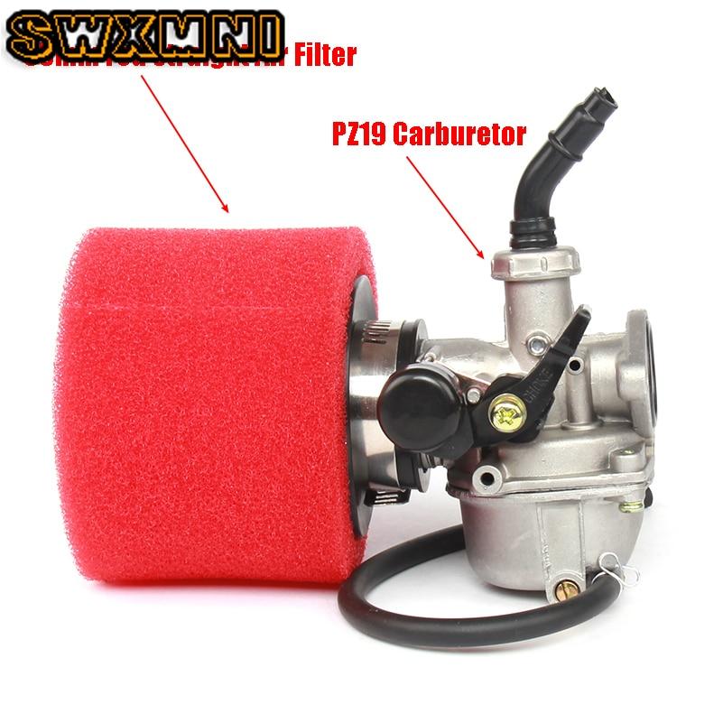 PZ19 19mm Carb Carburetor + 35mm Air Filter For ATV Quad Dirt Pit Trail Motor Bike Go Kart 50cc 70cc 90cc 110cc 125cc