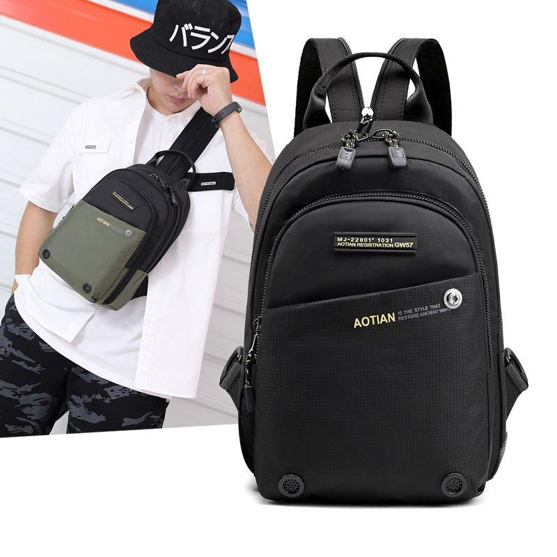 Weysfor Vogue Мужская нагрудная сумка рюкзак брендовый известный дорожный повседневный мужской рюкзак на одно плечо слинг рюкзак