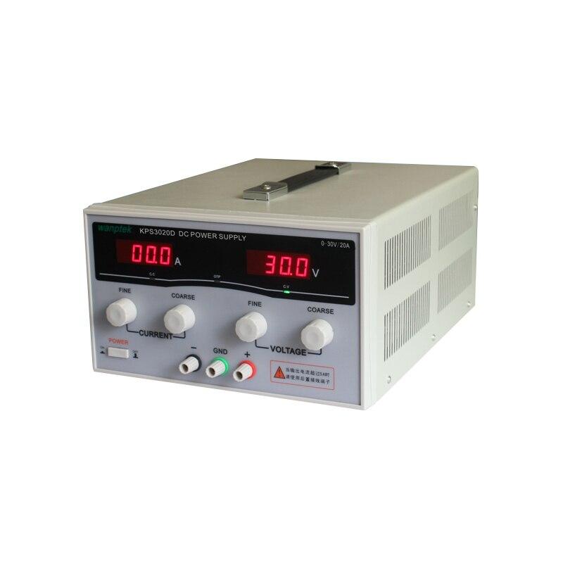مزود طاقة تيار مستمر رقمي قابل للتعديل عالي الدقة KPS3020D ، 30 فولت/20 أمبير ، مفتاح مختبر البحوث العلمية ، مصدر طاقة تيار مستمر
