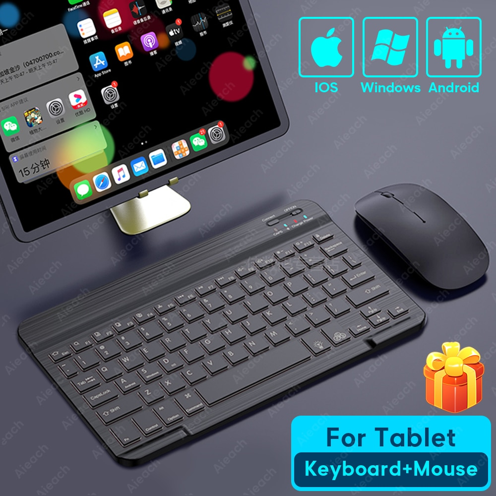 Tablet Wireless Keyboard For iPad Pro 2020 11 12.9 10.5 Teclado, Bluetooth Keyboard Mouse For iPad 8th 7th 6th Air 4 3 2 mini 5