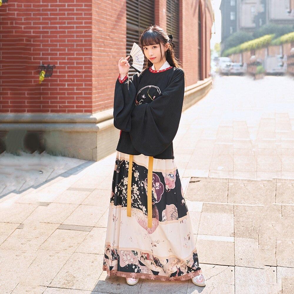 التطريز Hanfu النساء الصينية أزياء رقص الأميرة القديمة Hanfu الصينية التقليدية فستان مرحلة أداء الجنية زي