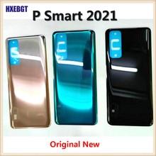 Y7a 2020 Оригинал для Huawei P Smart 2021 задняя крышка корпуса задняя крышка батарейного отсека шасси + клейкая наклейка запасные части