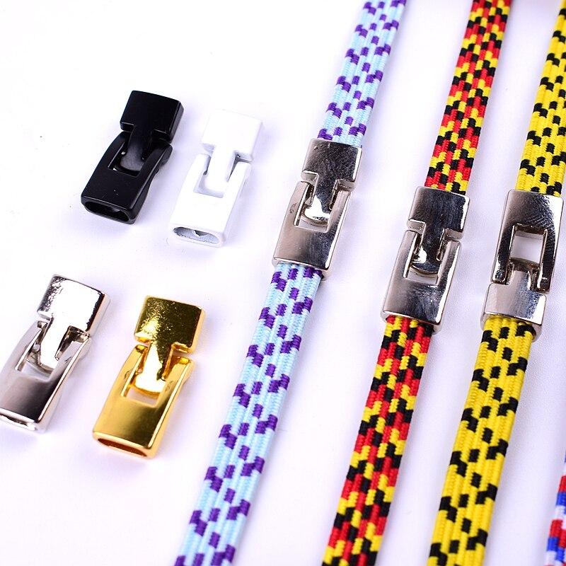 1 paar Schnürsenkel Schnalle Metall Schnürsenkel Kreuz schnalle Zubehör Metall Spitze Schloss DIY Sneaker Kits Metall Spitze Schnalle