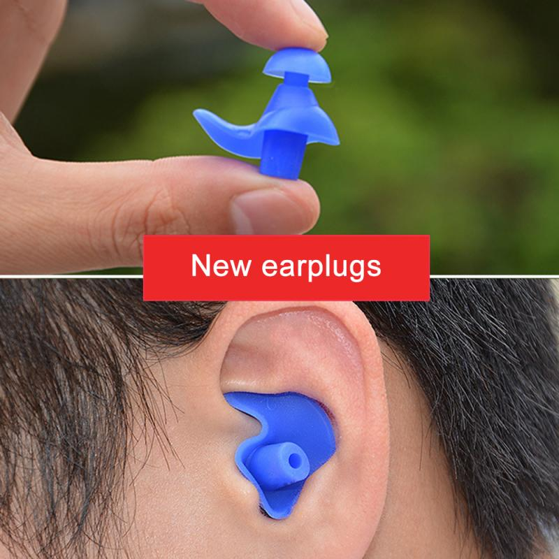 1 Pair Silicone Swimming Earplugs Anti-noise Dust-Proof Waterproof Soft Ear Plugs Diving Water Sport