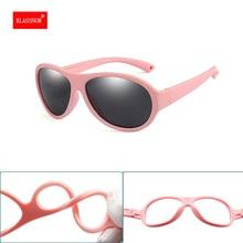 1PCs Colorful Flexible Kids Sunglasses Polarized Boys Girls Round Oval Sun Glasses Child Baby Eyewea