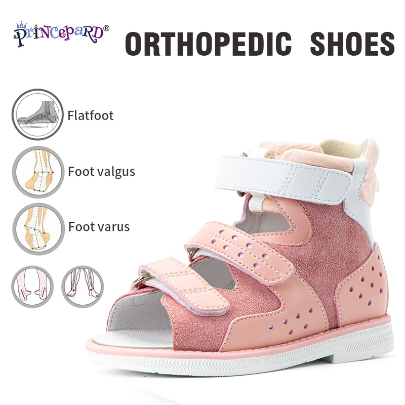 Princepard Orthopedic Kids Sandals for Boys Girls Summer Open Toe Corrective Arch Support Shoes Babies First Walk Thomas Sole