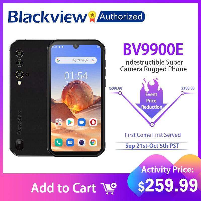 Перейти на Алиэкспресс и купить Blackview BV9900E Android 10 Helio P90 Восьмиядерный 6 + 128 ГБ IP68 прочный мобильный телефон 48MP Quad Rear Camera NFC Смартфон Global 4G
