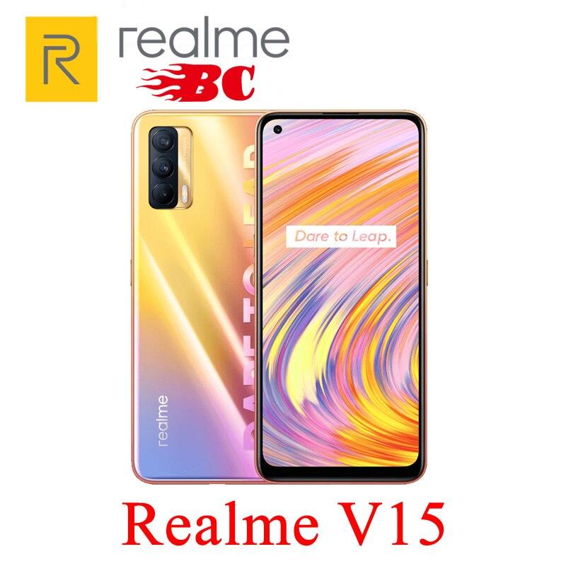 Перейти на Алиэкспресс и купить Новый оригинальный Realme V15, 5G, смартфон 6,4 ''64MP тройные камеры 4310mAh 50W быстрая зарядка мобильный телефон Быстрая доставка