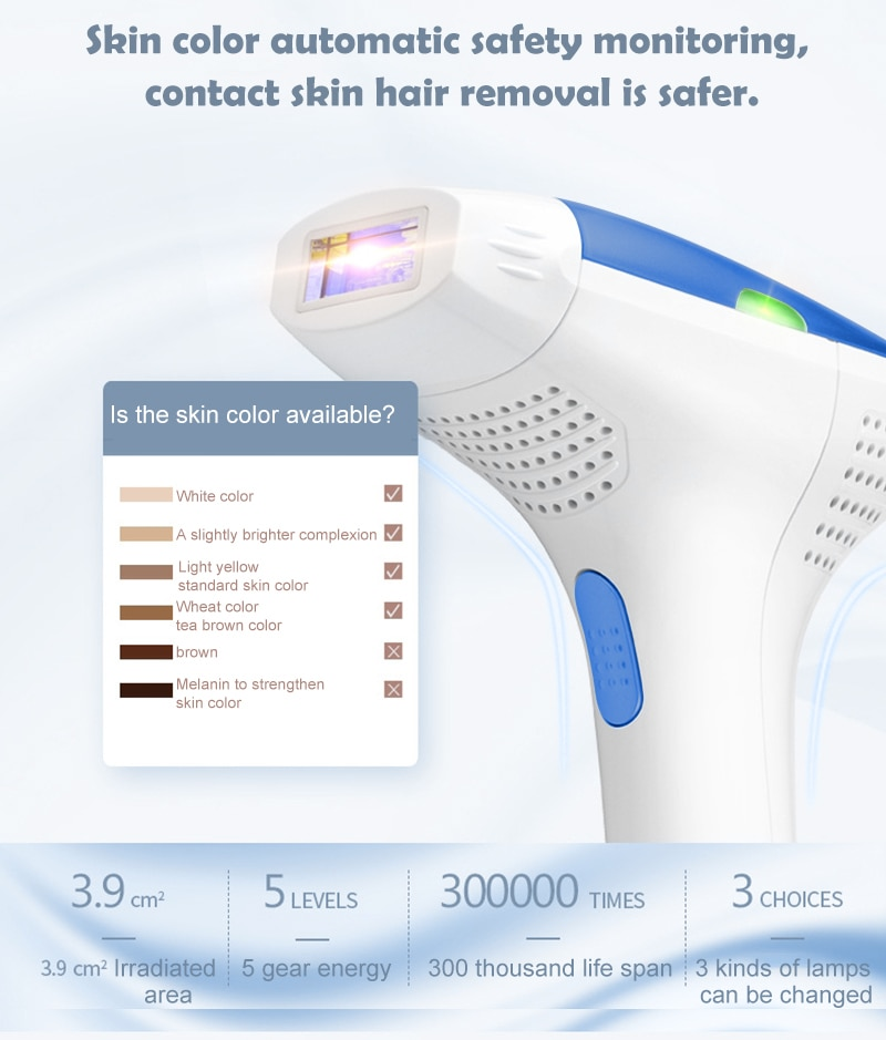 MLAY T3 IPL Laser Hair Removal Face and Body Hair Removal System For Hair Removal +Skin Rejuvenation+Acne Clearance Home Use enlarge