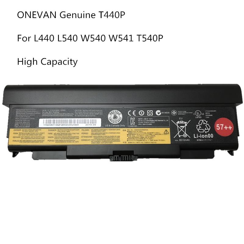 9 Cell ONEVAN de 45N1148 45N1149 45N1152 Original batería del ordenador portátil para Lenovo ThinkPad T440P T540P L440 L540 W540 W541 100Wh