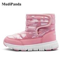 mudipanda winter snow boots for children warm thick girls boots baby boys cotton padded footwear non slip casual shoes pink 2020