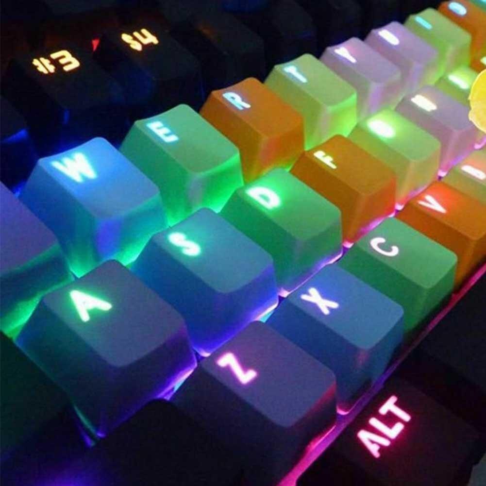 Новинка 2019, PBT 37 клавишные разноцветные колпачки для игр, сменные колпачки с подсветкой для проводной USB механической клавиатуры