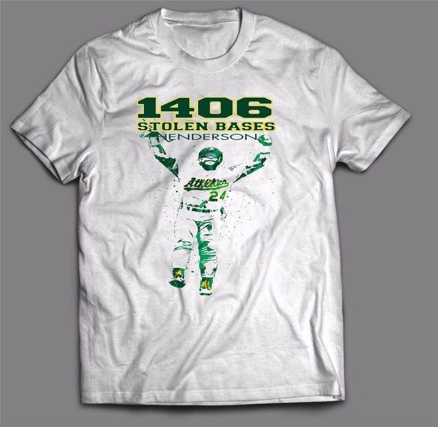 RICKEY HENDERSON OAKLAND AS CUSTOM OLDSKOOL ART Mens T-Shirt MANY OPTIONS Cool Gift Personality Tee Tshirt