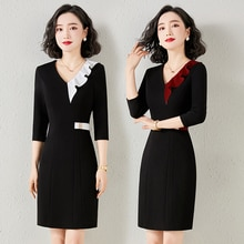 Business Dress Fashion Temperament Goddess Style Hotel Reception Labor Suit Jewelry Store Beautician