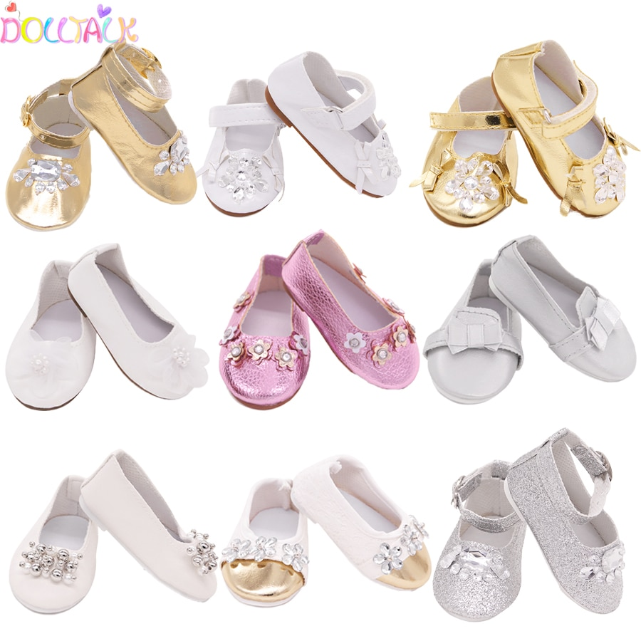 15 Style 7.5cm Delicate Doll Shoes For 18 inch Girls Doll Mini Handmade Doll Shoes For 43 cm Baby New Born Dolls Toy Accessories недорого