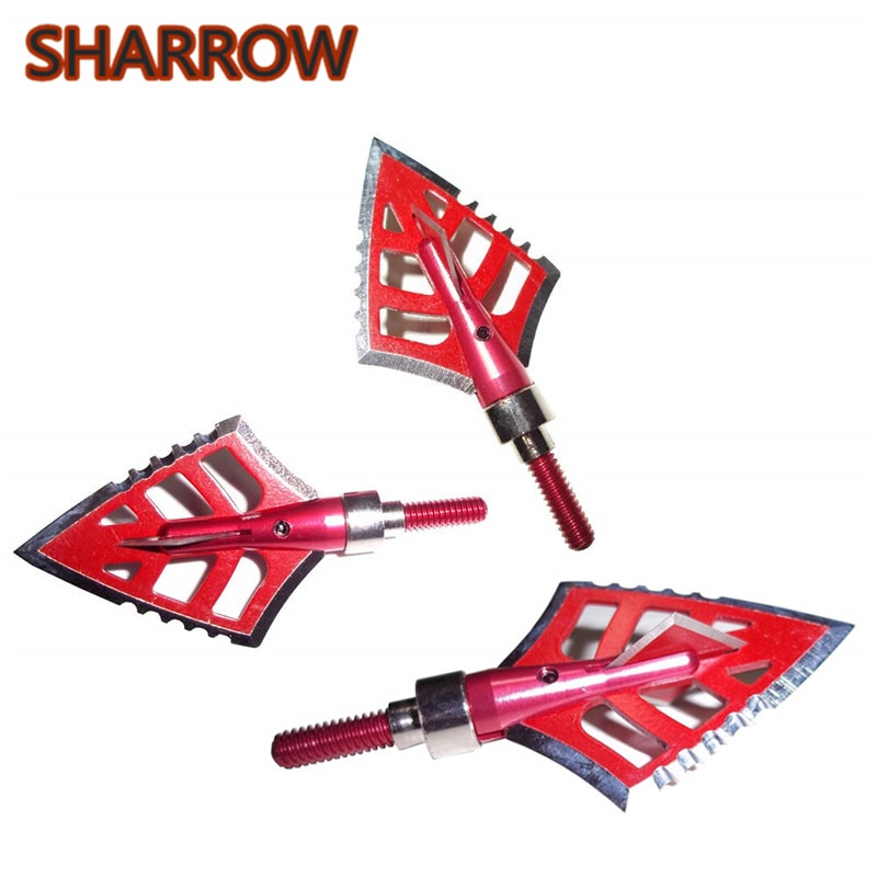 6/12Pcs 120 Grain Archery Broadheads 4 Blade Stainless Steel Arrowheads Hunting Screw Tips For Outdoor Shooting Accessories