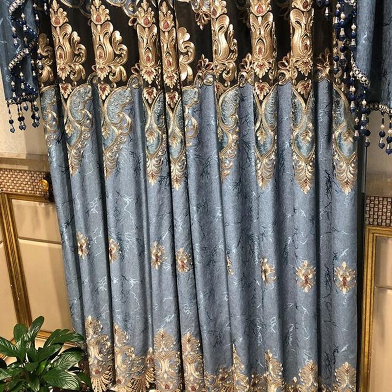 Cortinas bordadas solubles en agua para dormitorio, sala de estar, Villa, decoración...