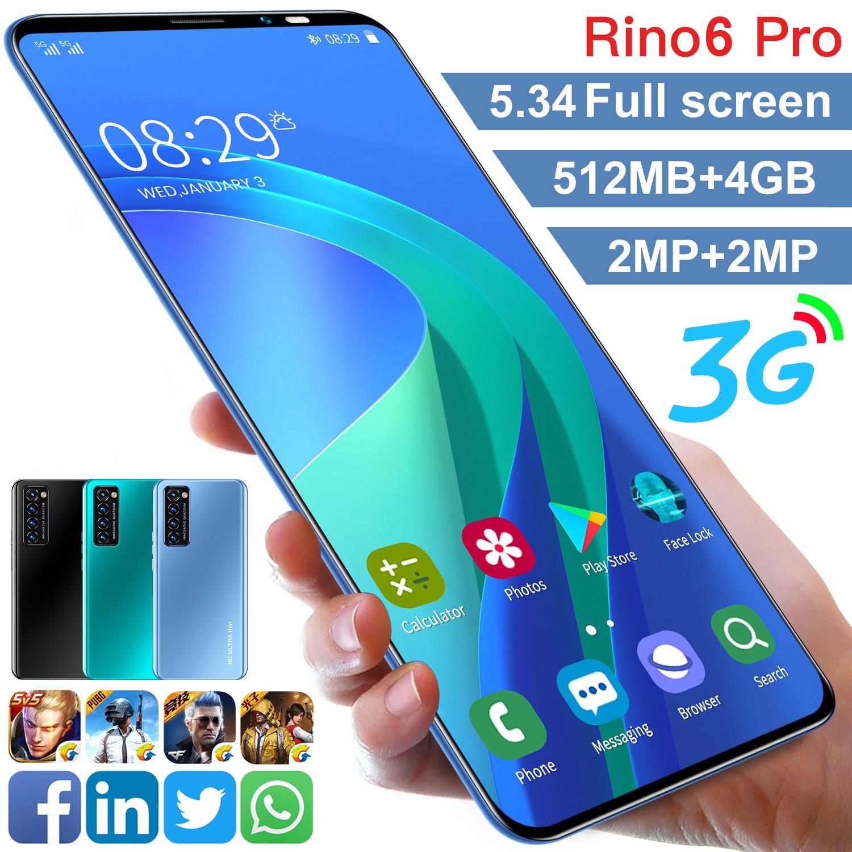 Günstigstes Smartphone Rino6 pro RAM 512MB + ROM 4GB Mobiltelefon Android 6,0 3G WCDMA Entsperrt Dual sim Handy