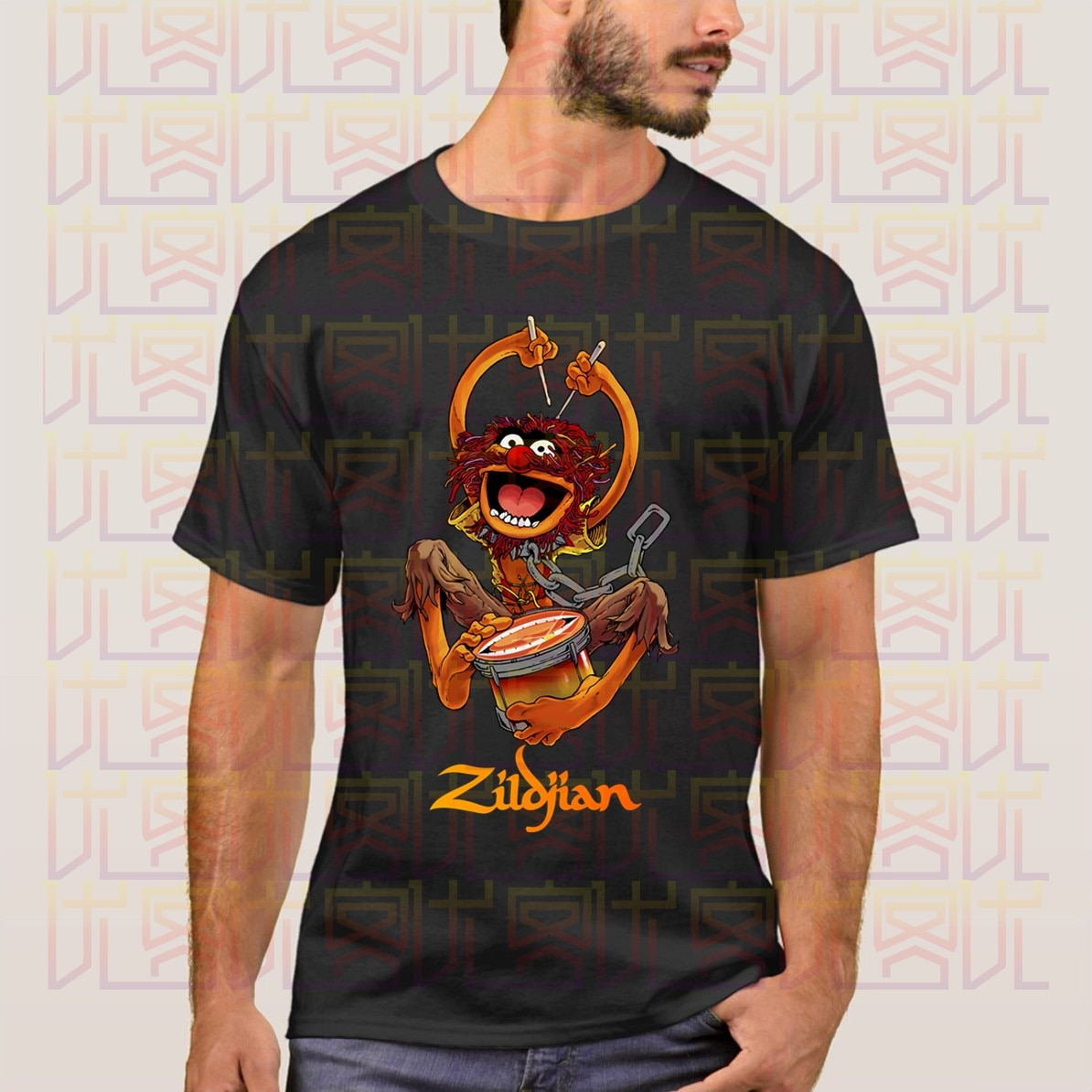 Avedis Zildjian 세서미 스트리트 Muppet 드럼 드러머 매니아 티셔츠 2020 남성용 반소매 티셔츠