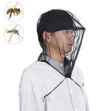 Gorro de pesca para proteger las abejas, mosquitera, gorro de prevención de verano, gorra de pesca de malla, parasol para exteriores, funda para cabeza de cuello único