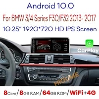 8core 8gb ram android 10 car multimedia player gps navi for bmw f30 f31 f34 f32 f33 f36 2013 2017 with bt wi fi 4g let 1920720p