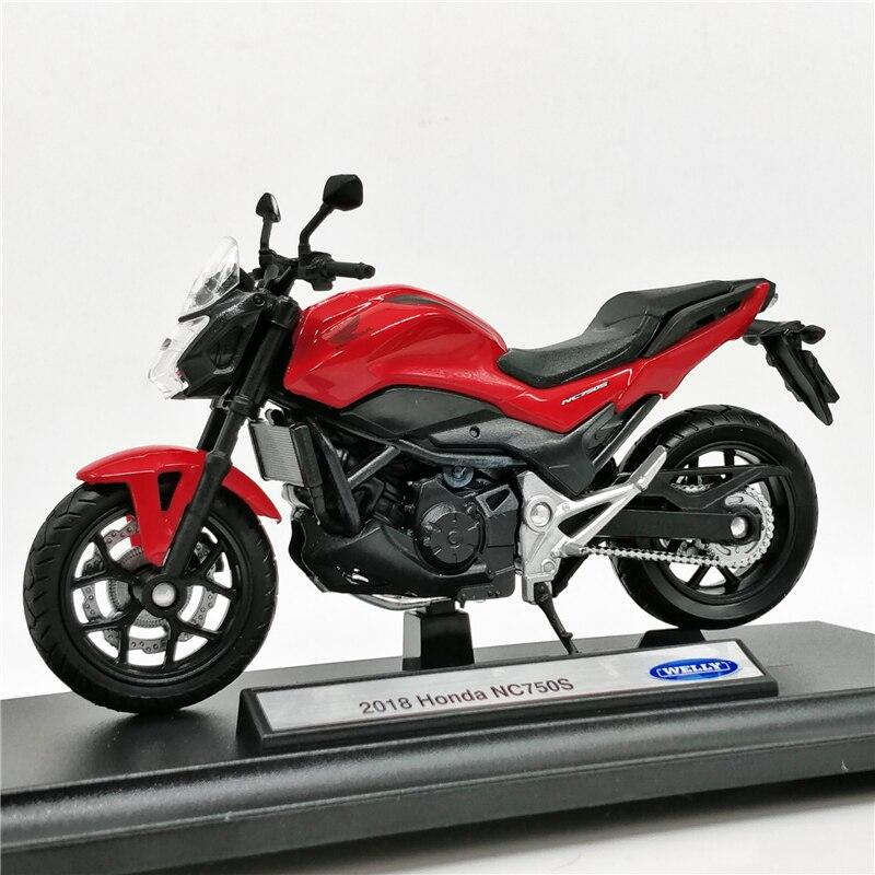 Welly 118 Honda NC 750S 2018 rojo de fundición de la motocicleta