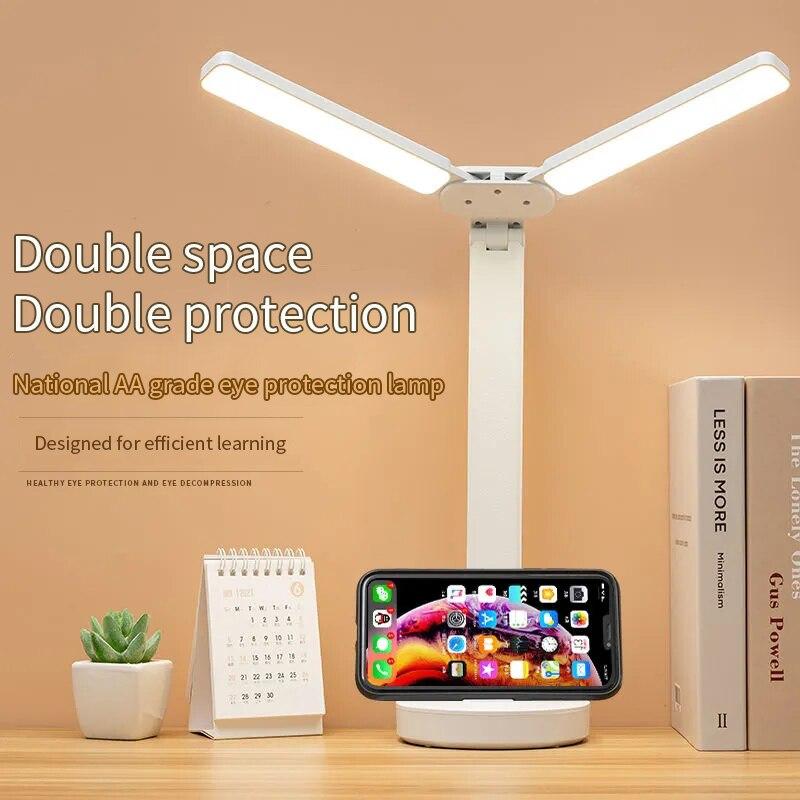 lampada de mesa led regulavel toque dobravel lampada de cabeceira leitura protecao