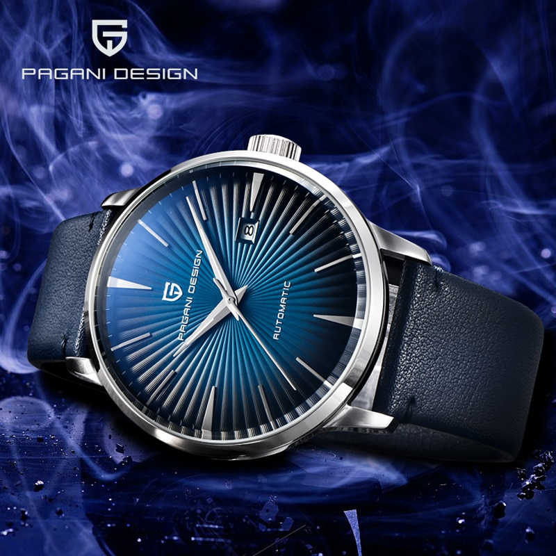 PAGANI DESIGN Mens Watches Mechanical Watch Men Leather Luxury Automatic Watches For Men Business Waterproof Relogio Masculino