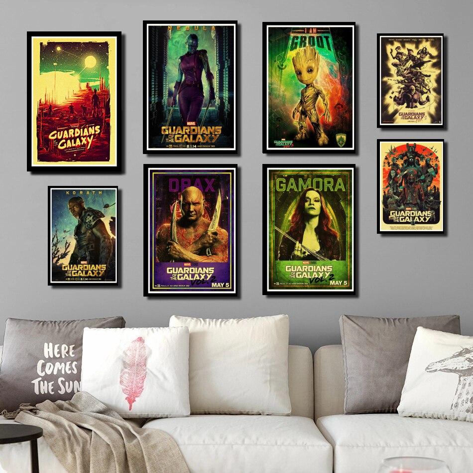 Perfekte JL Vintage Film Marvel Guardians Of The Galaxy Poster Wand Aufkleber Poster Druckt Hochwertige Wohnkultur wand aufkleber
