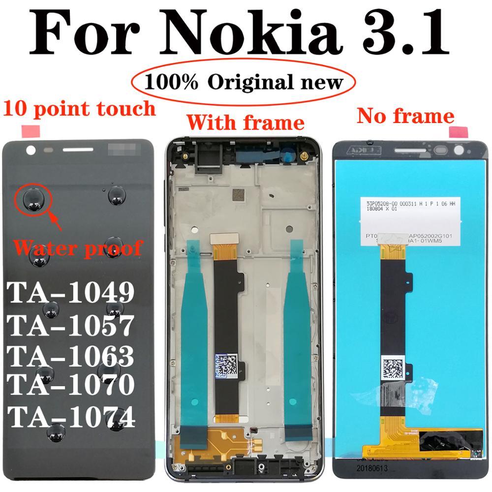 "Shyueda ips 100% nova 5.2 original, 3.1 ""para nokia 2018 1049 ta-1057 ta-1063 ta-1070 ta-1074 display lcd touch screen digitizer"