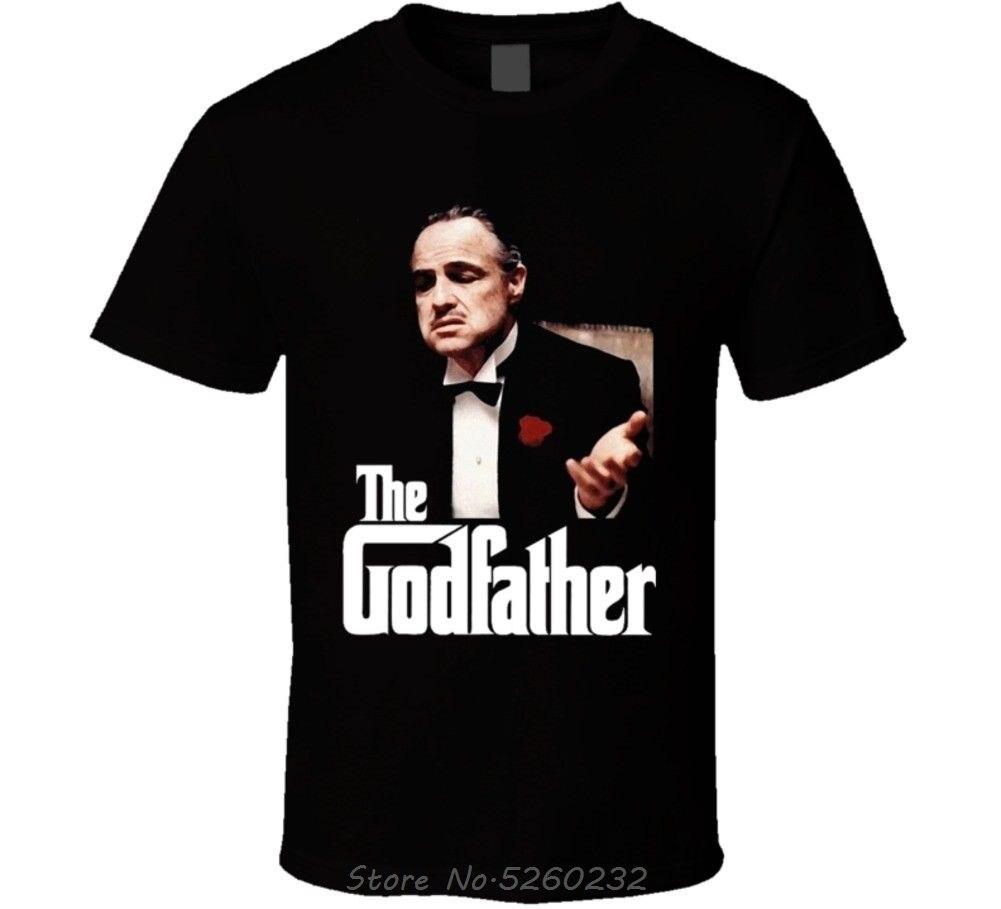 Camiseta de la película del padrino de la policía de Brando hecha a medida de buena calidad