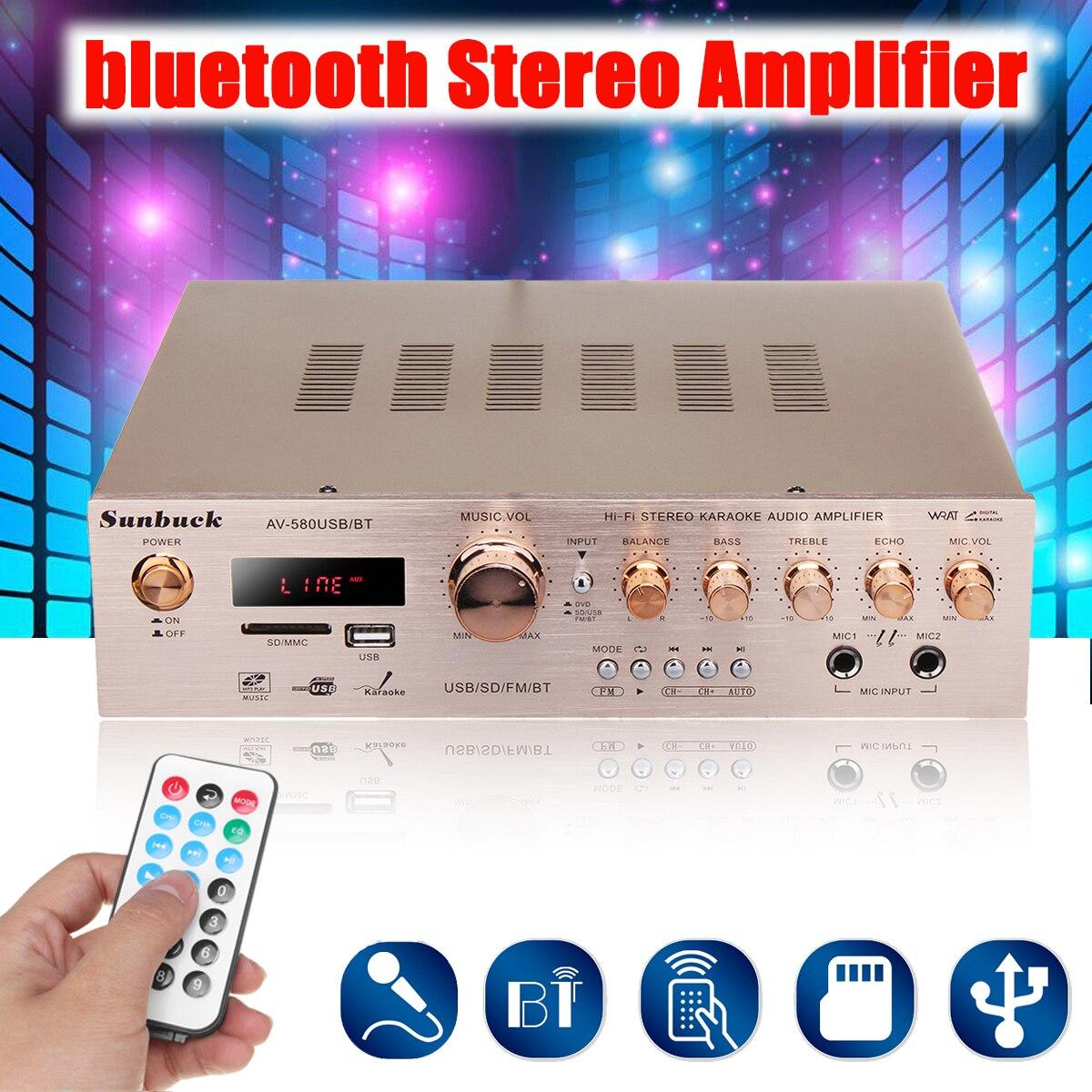 920W 220V 5CH bluetooth amplificador HiFi estéreo AV rodean FM amplificador de...