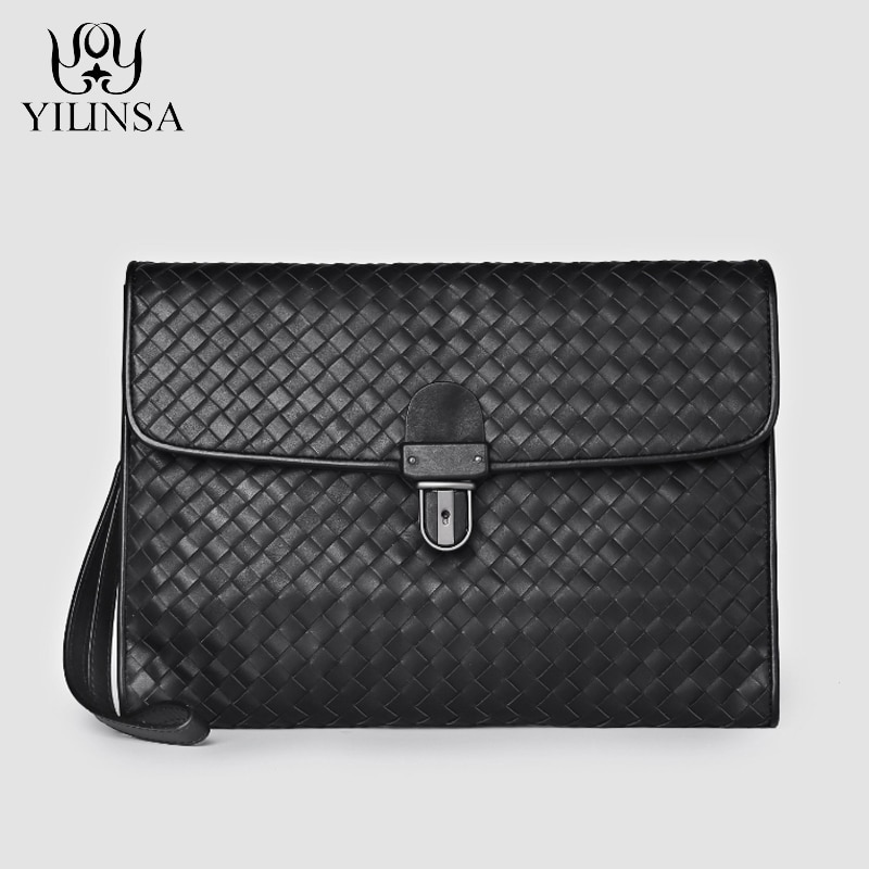 YILINSA-حقيبة يد رجالية من جلد البقر الأصلي ، حقيبة يد ، فاخرة ، عصرية ، بسحاب ، مصممة ، جودة عالية ، جلد البقر ، 2021