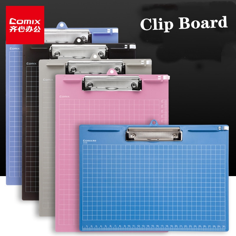 Comix Clip Board A4 Marble Clip File Folder Writing Pad Word Pad Document Holders Board Clamp School Office Stationery 3pcs lot school stationery a4 folder cute fashion for student clip file 3 color information booklet school office stationery