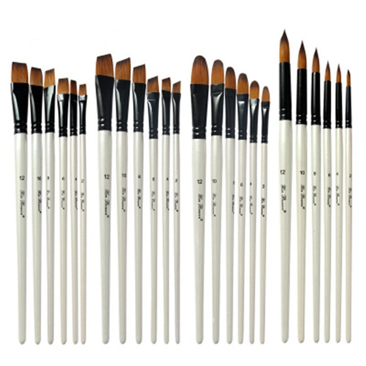 Oil Paint Brushes Set for Art Oil Watercolor Artist Canvas Synthetic Nylon Tips 6 Pack Painting Supplies Art Supplies Brush Pens