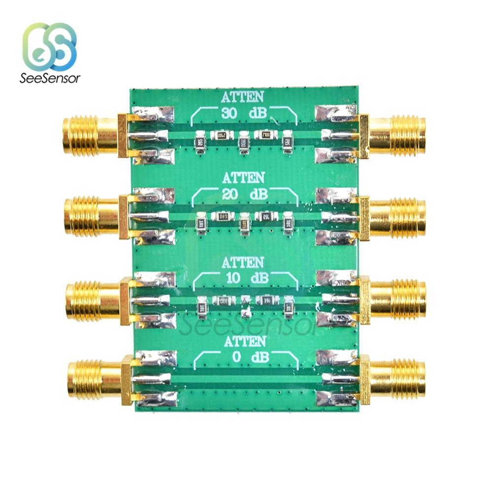 Placa de módulo de atenuador fijo 23dBm DC 4,0 GHz RF, cabeza doble hembra SMA, 0dB, 10dB, 20dB, 30dB