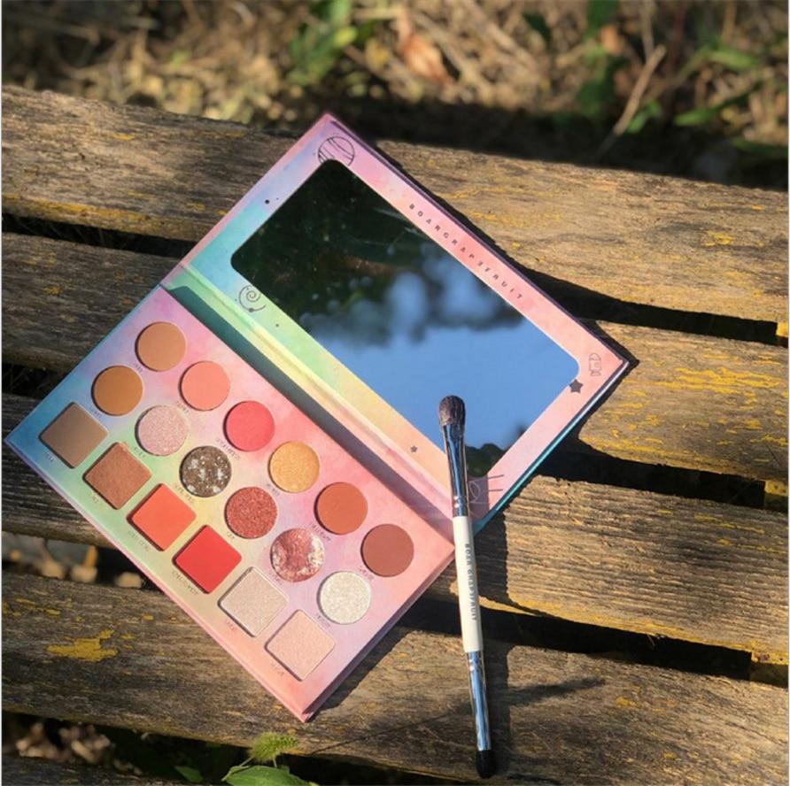 18 colors beauty glazed makeup kit full profession Eyeshadow Pallete Net Red Pearlescent Matte Earth Eye shadow makeup pallete