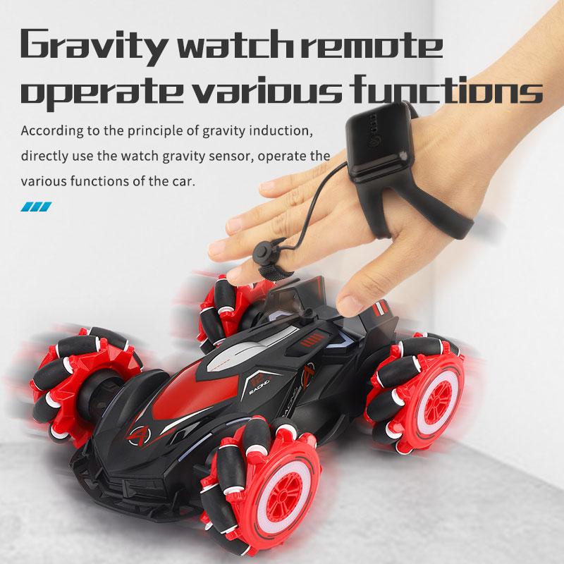 RC Car Toys Gesture Sensing Four-wheel Drive Stunt Car Dual Remote Control Sprayable Drift Racing Car Children Christmas Gift enlarge