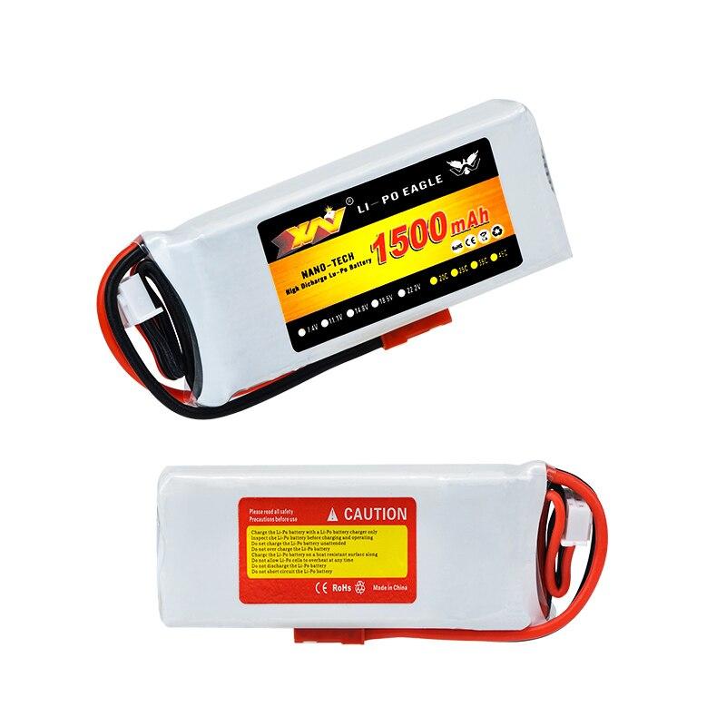Batería Lipo recargable 7,4 V 1500Mah 20C para transmisor Hubsan H501S H502S H109S H901A