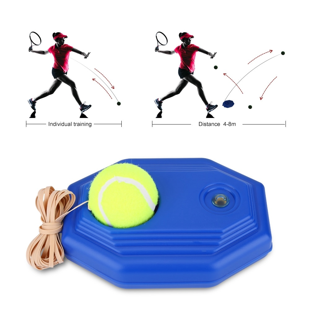 magideal sucker base table tennis stroking training aid trainer action practice machine strong stability and good flexibility Tennis Self-study Training Machine Racket Ball Trainer Single Tennis Practice Base Elastic Tennis Exercise Sport Training Device