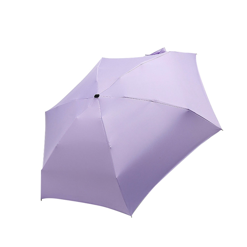 Sombrilla plana y ligera para el sol, Sombrilla Plegable pequeña para Paraguas