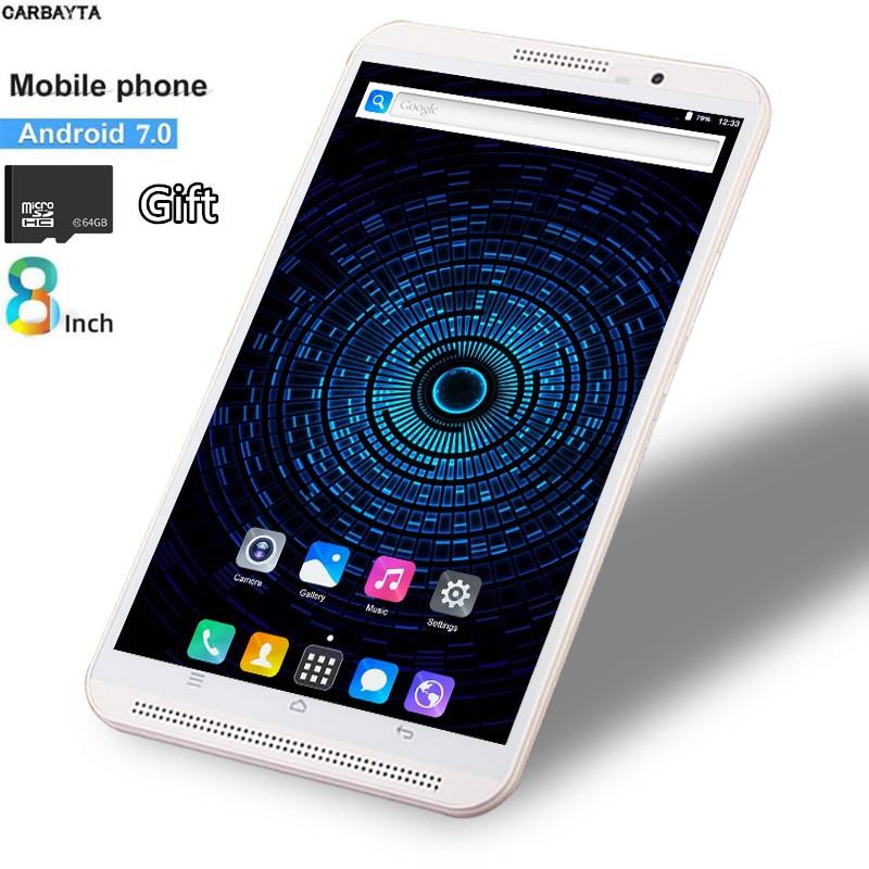 Бесплатный подарок 64 Гб XC TF карта фаблет планшет 8 дюймов мобильный телефон планшет ПК 4G Android 7,0 3G 4G LTE Dual SIM WiFi Bluetooth GPS