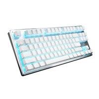 Механическая Bluetooth клавиатура 87 клавиш Проводная Беспроводная индивидуальная подсветка Bluetooth 3 режима фаблет компьютерная игровая клавиат...
