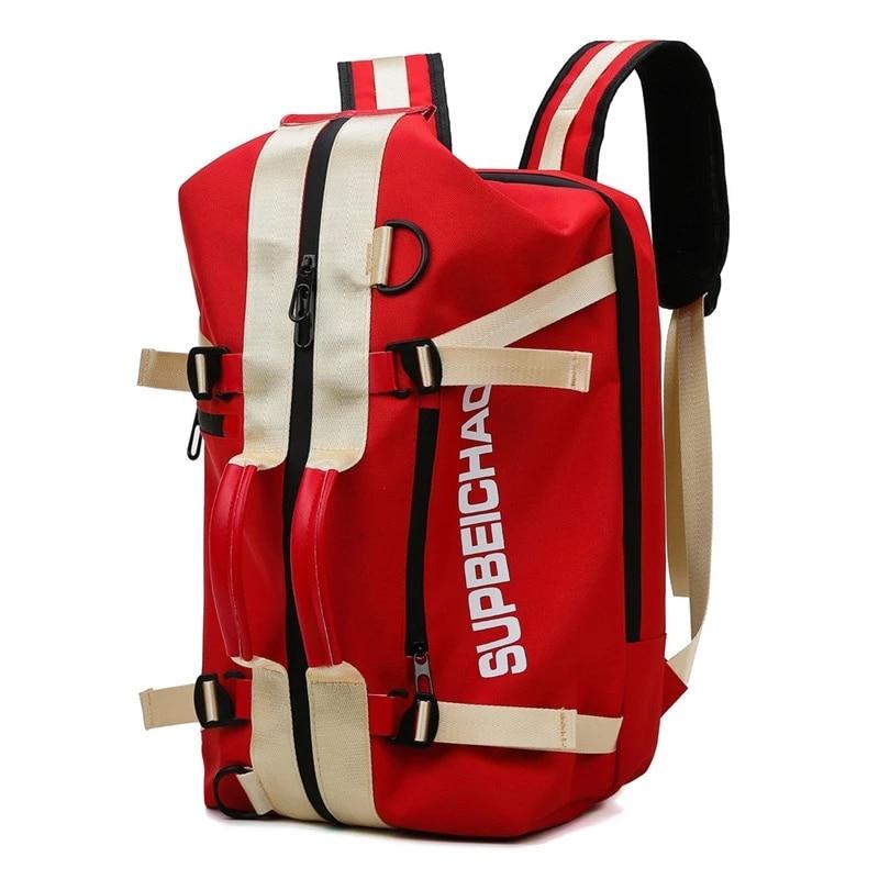Men Sport Gym Bag Women Fitness Backpack Large Waterproof Multi-Functional Dry Wet Separation Bag Crossbody Travel Bag
